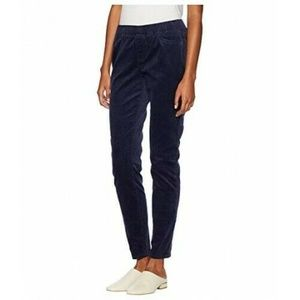 Eileen Fisher Blue Corduroy Pull On Pants Large